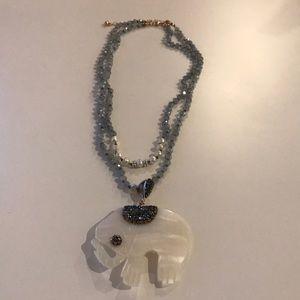 JTV Double Strand Elephant Necklace